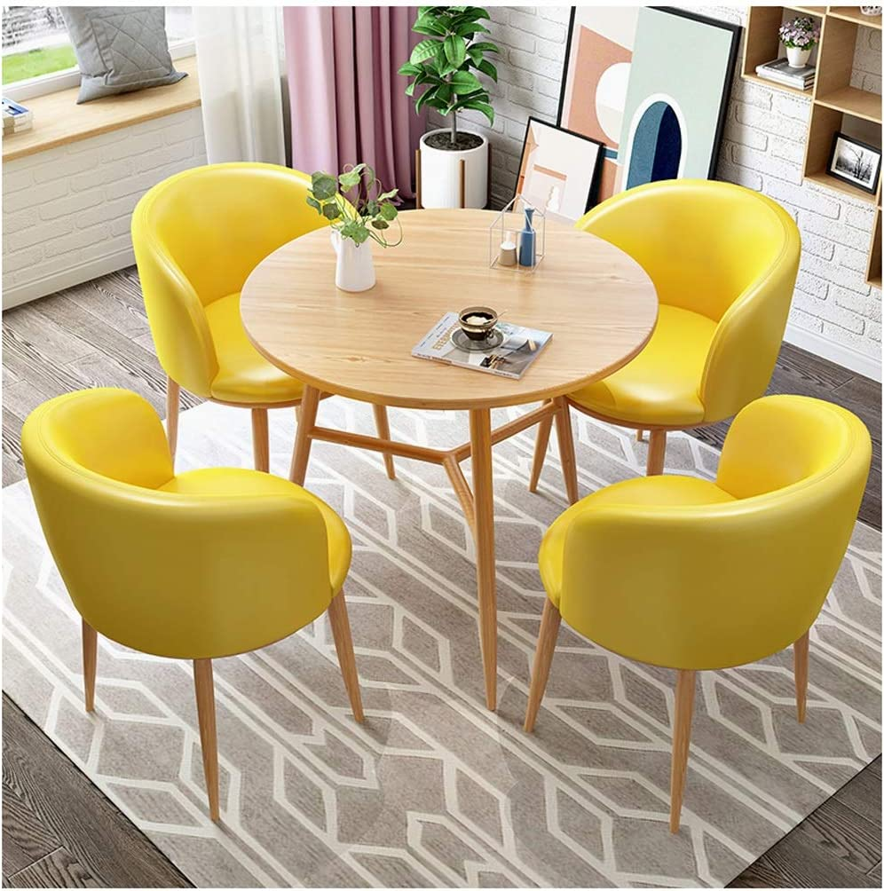 Table Chair Sets Office Products Table Sales Office Negotiation Table And Chair Combination Light Luxury Restaurant Reception Department Small Round Table One Table Four Chairs