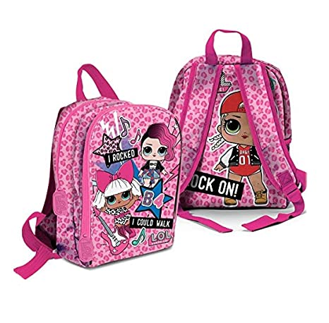 Lol Surprise Mini Mochila Guardería Escuela de muñeca Cartoon Fucsia + regalo marcapáginas + regalo Bolígrafo