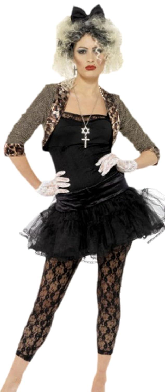 Halloweenia - Damen Kostüm im 80er Jahre Stil Leoparden- Katzenlook , 40, Schwarz