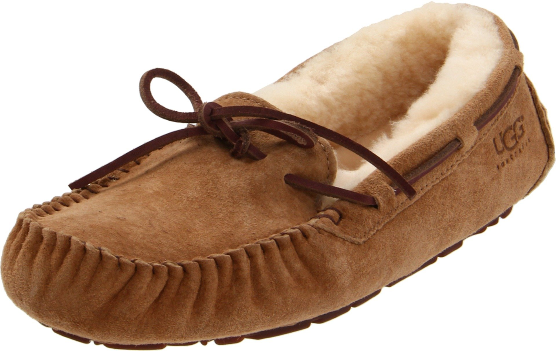 UGG Women's Dakota Moccasin, CHESTNUT, 8 B US