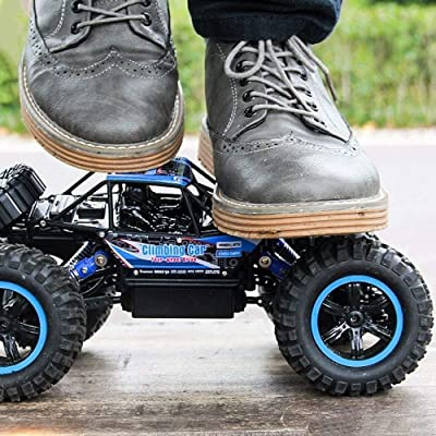 PETRLOY 1/14 4wd RC Monster Truck High Speed Remote Control Toys Car Radio Controlled Cars 2.4GHZ RC Racing Climbing Off-Road Gravel Grassland Vehicle for Children and Adults Gift: Toys & Games