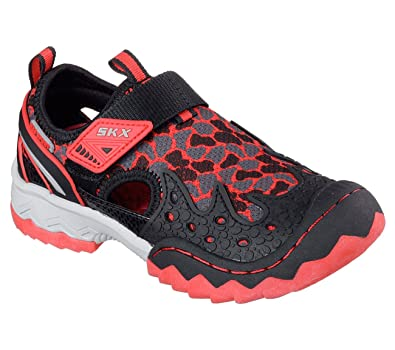 black and red skechers