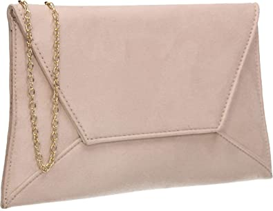 Women/'s Suede Clutch Envelope Bridal Party Prom Ladies Evening Wedding Bags