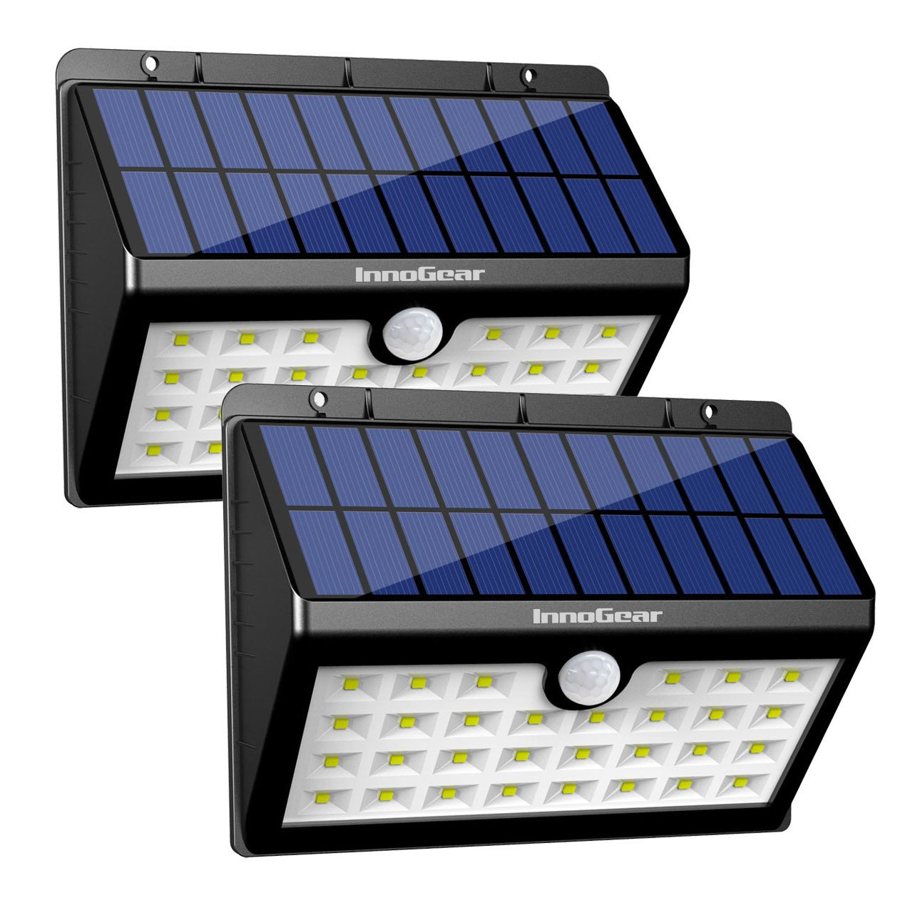 innogear solar lights 30 led wall light outdoor security. Black Bedroom Furniture Sets. Home Design Ideas