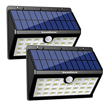 InnoGear Upgraded Solar Lights 30 LED Wall Light Outdoor Security