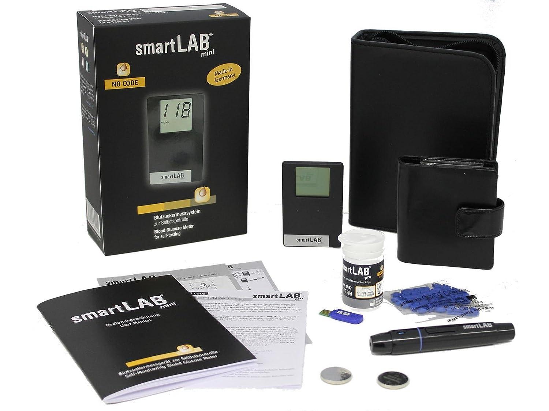 smartLAB mini (mmol/L) Monitoreo de glucosa en la sangre como Bundel | Sistema de control de glucosa en la sangre...