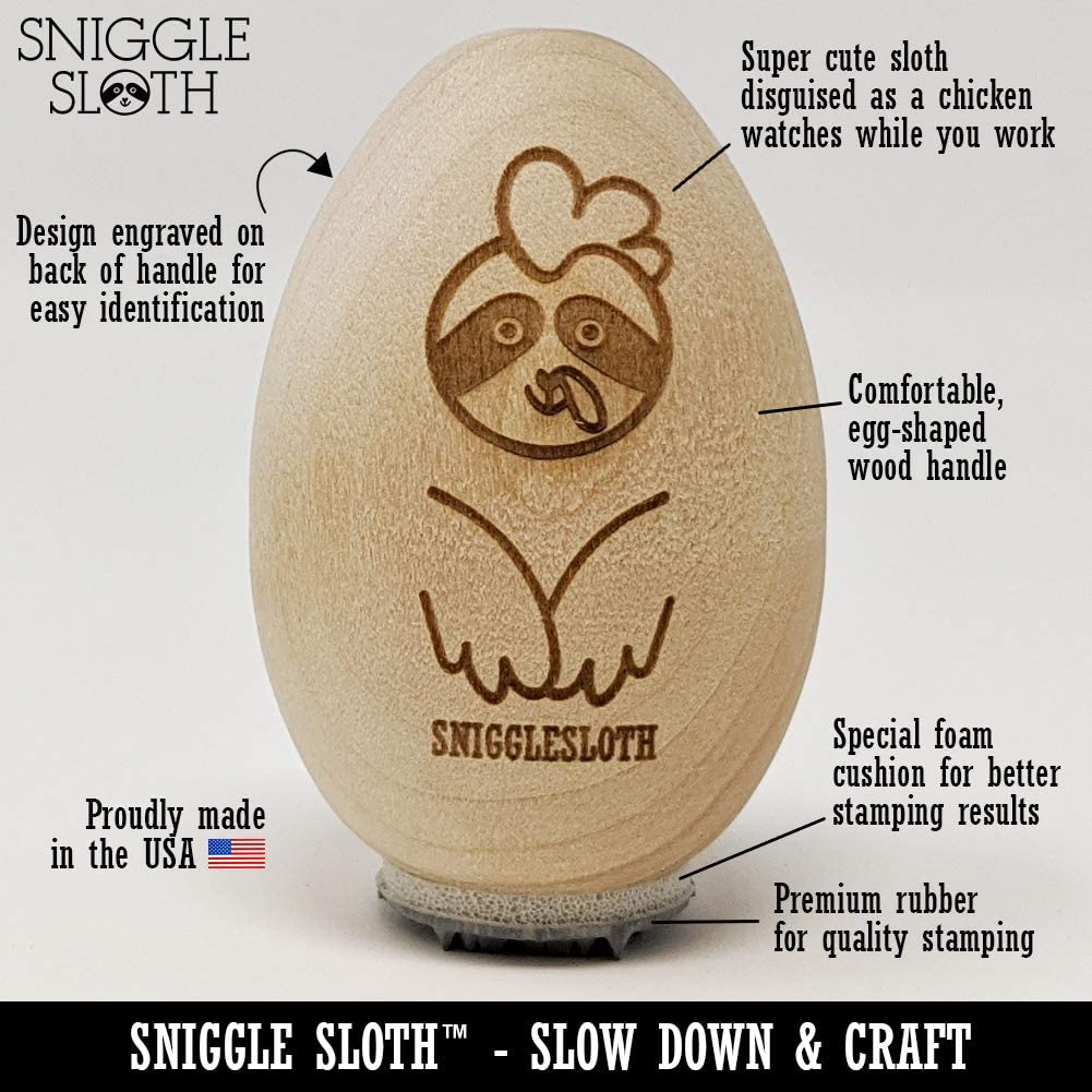 3//4 Inch Small Just Laid Chicken Head Chicken Egg Rubber Stamp