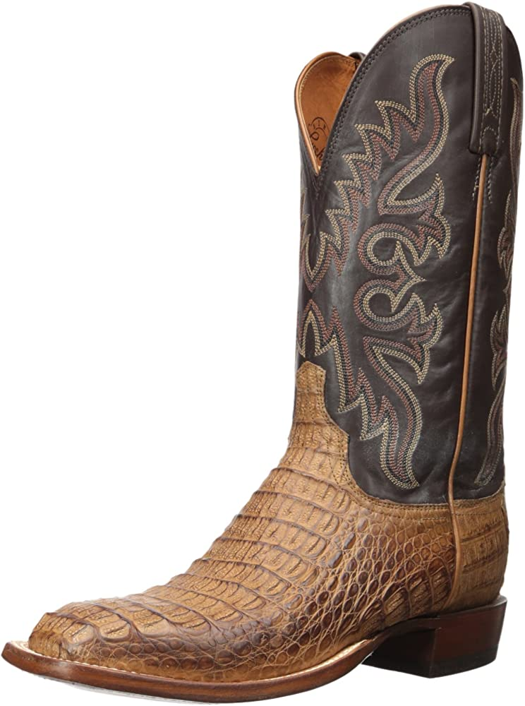 3ece1663554 Men's Fisher Western Boot, tan Burnished/Chocolate, 9 D US