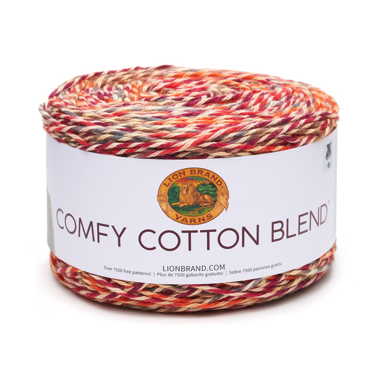 Lion Brand 756-701 - Ovillo de hilo de mezcla de algodón cómodo, con ...