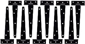 Black T Hinge Pair 204mm Pack of 5