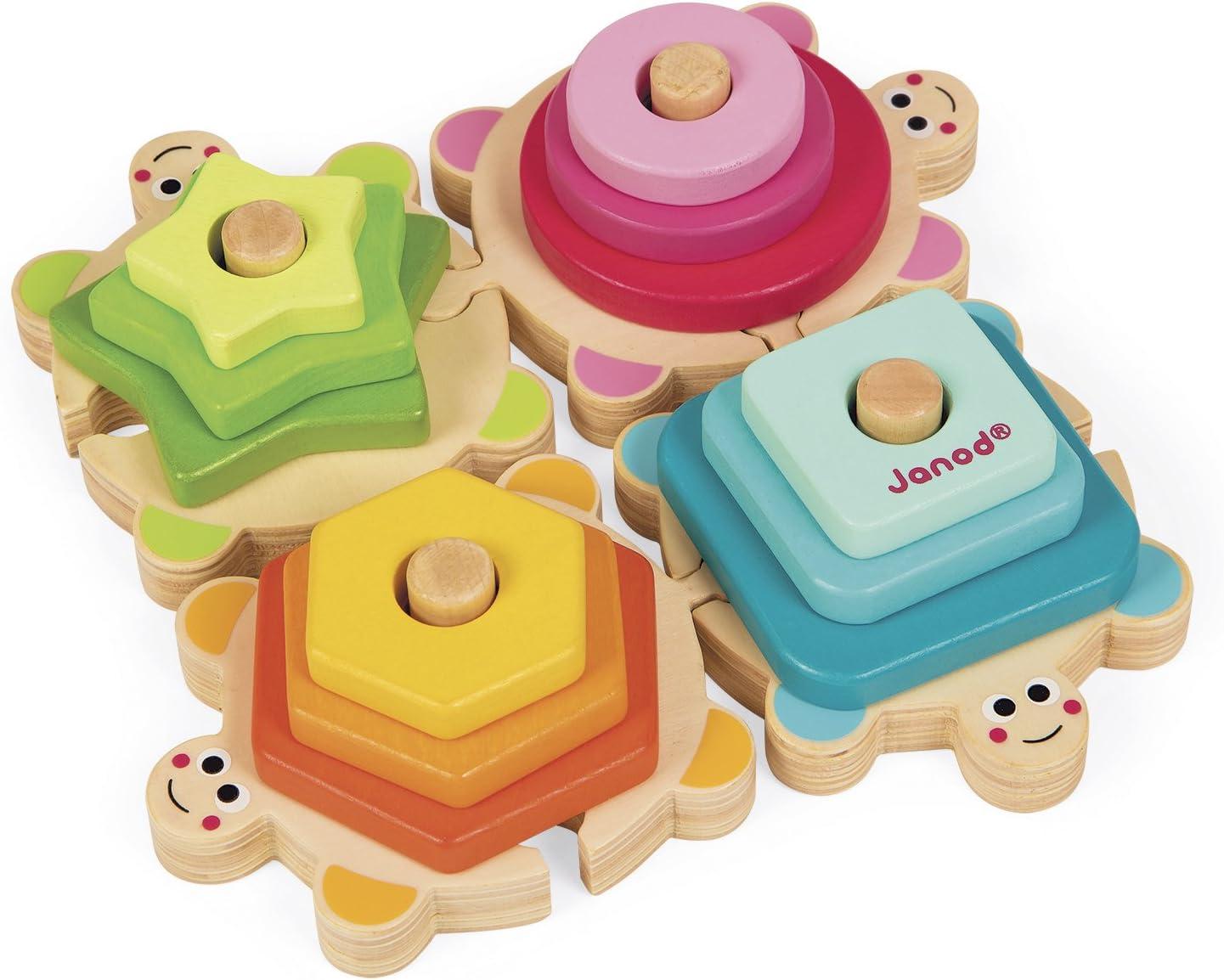 Janod - Tortugas apilables I Wood (J05337): Amazon.es: Juguetes y juegos