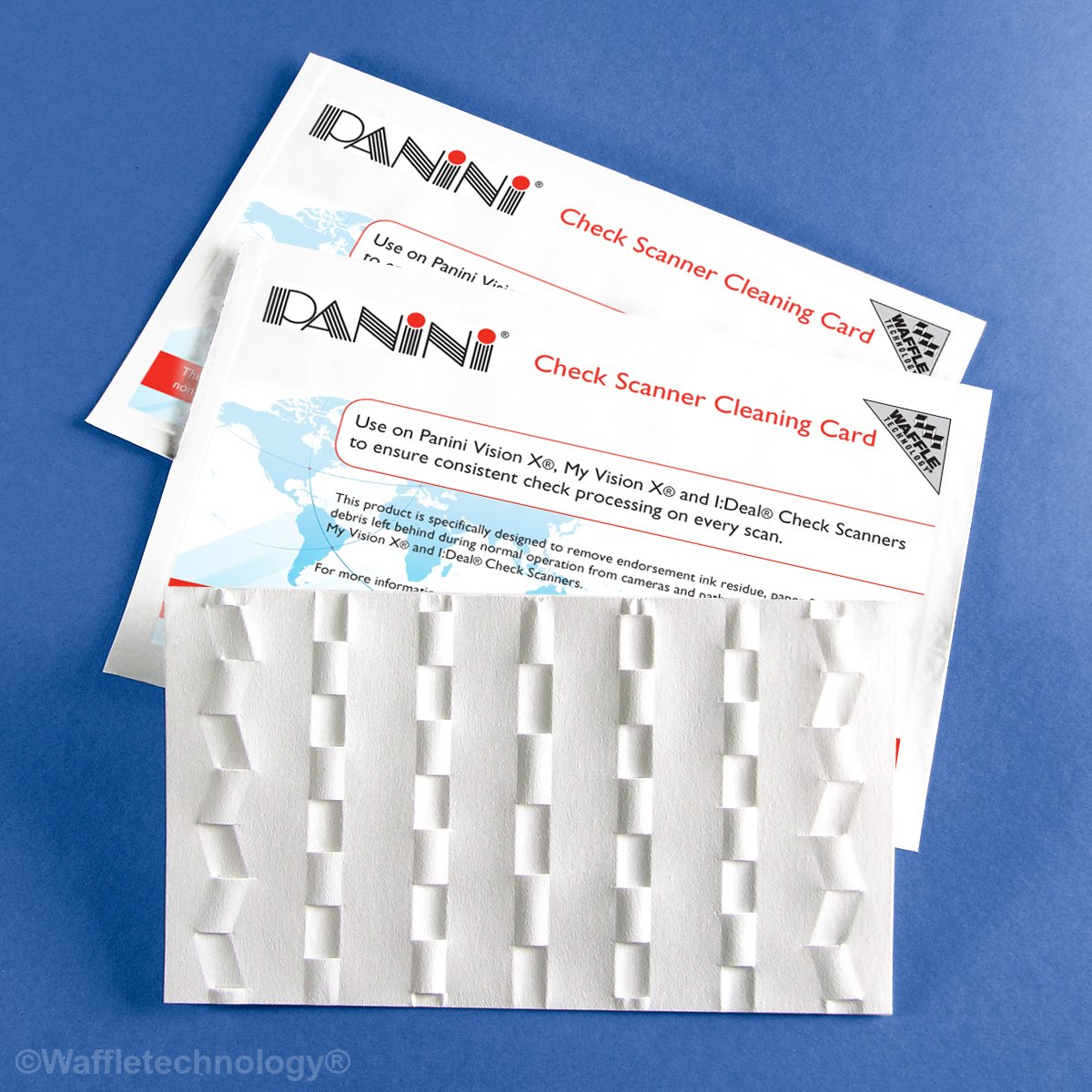 Panini Check Scanner Cleaning Cards (30) by Waffletechnology