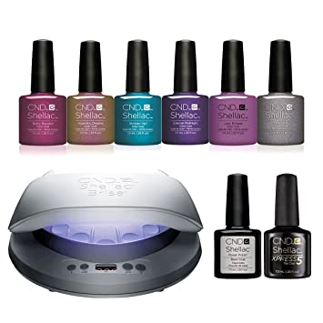 Nightspell Kit Ongles À Lampe Cnd Gel Vernis Shellac Led Starter 9W2EDHIY