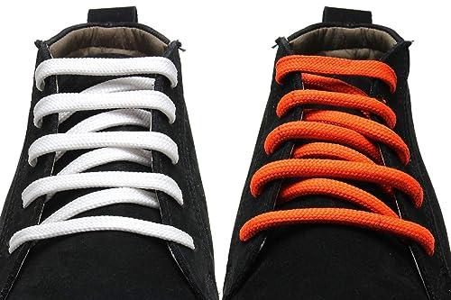 new concept a2535 64c80 XeeBest Orange   White Shoe Laces - Sport Shoes Skates Boot shoelaces   2  laces 36