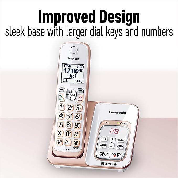 Panasonic kx-tgd562g link2cell Bluetooth teléfono inalámbrico con asistencia de voz y contestador automático – 2 teléfonos inalámbricos (Certificado Reformado): Amazon.es: Electrónica