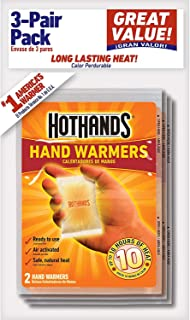 product image for HotHands Air Activated Hand Warmers, Up to 10 Hours of Heat, 3 Pairs each (Value Pack of 40)