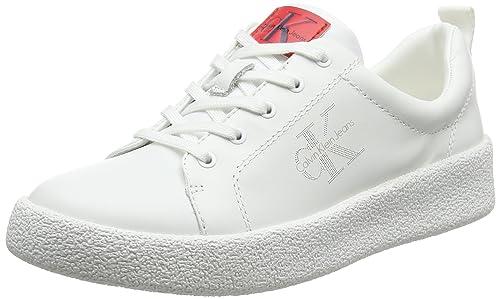 Calvin Klein Jeans Gabri Nappa, Zapatillas para Mujer, Blanco (Wht 000), 40 EU