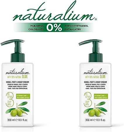 Naturalium OLIVA PACK Crema de Manos, Pies y Cuerpo - Set Cremas Efecto Anti-Edad, 2 de 300 ml: Amazon.es: Belleza