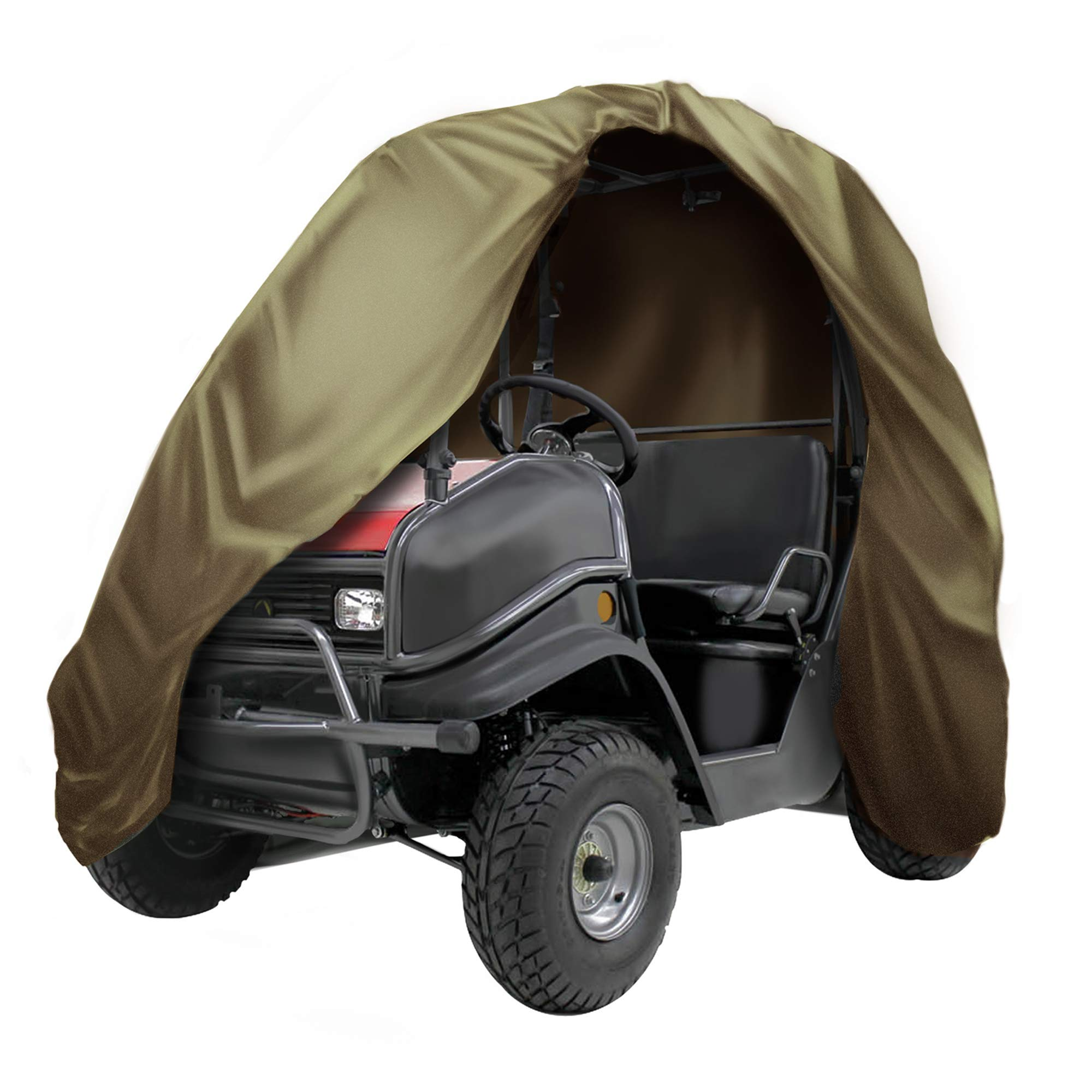 """NEXTCOVER UTV Cover-Heavy Duty Waterproof, Double P.U Coated 300D Denier,Fits UTVS up to L130""""W60""""H76"""",Olive Drab Color,NUTV21814-GN"""
