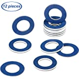 12 Pieces Oil Drain Plug Gasket Crush Washer Seals Part 90430-12031 for Toyota Prius Tundra Sienna Highlander Lexus Avalon Ca