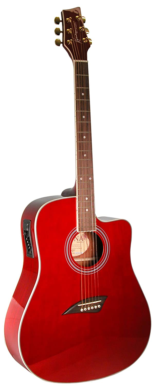 Kona Guitars K1ETRD Acoustic Electric Dreadnought Cutaway Guitar in Natural High Gloss Finish