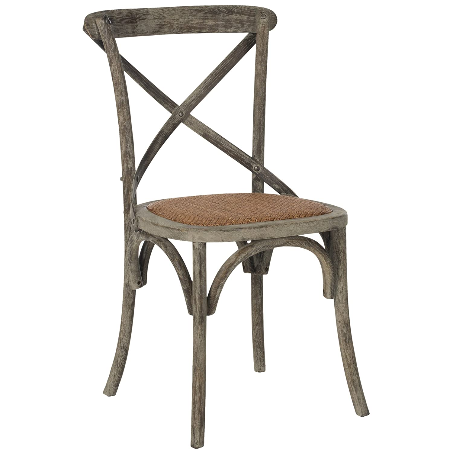 Amazon.com   Safavieh American Homes Collection Franklin Farmhouse X Back  Distressed Colonial Walnut Side Chair (Set Of 2)   Chairs