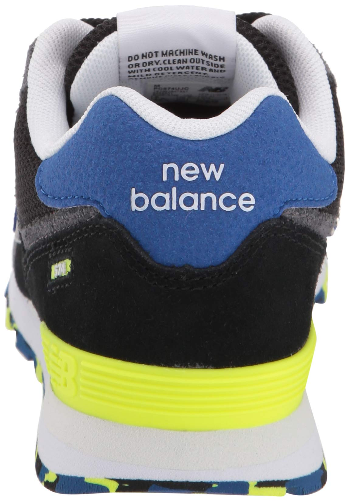 New Balance Boys' Iconic 574 Sneaker Black/Royal Blue 4.5 M US Big Kid by New Balance (Image #2)