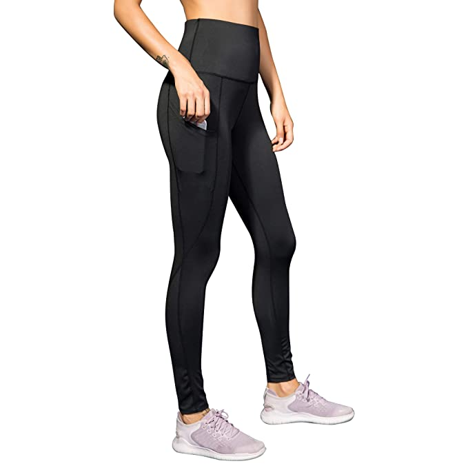 a533c4f42c Womens High Waisted Athletic Leggings with Pocket Slim Fit Running Pants  Tights Yoga Pants for Women