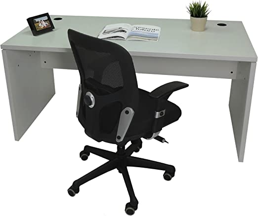 Mesa de Oficina. Euro 2000. Color Gris. 120x80 cm: Amazon.es: Hogar