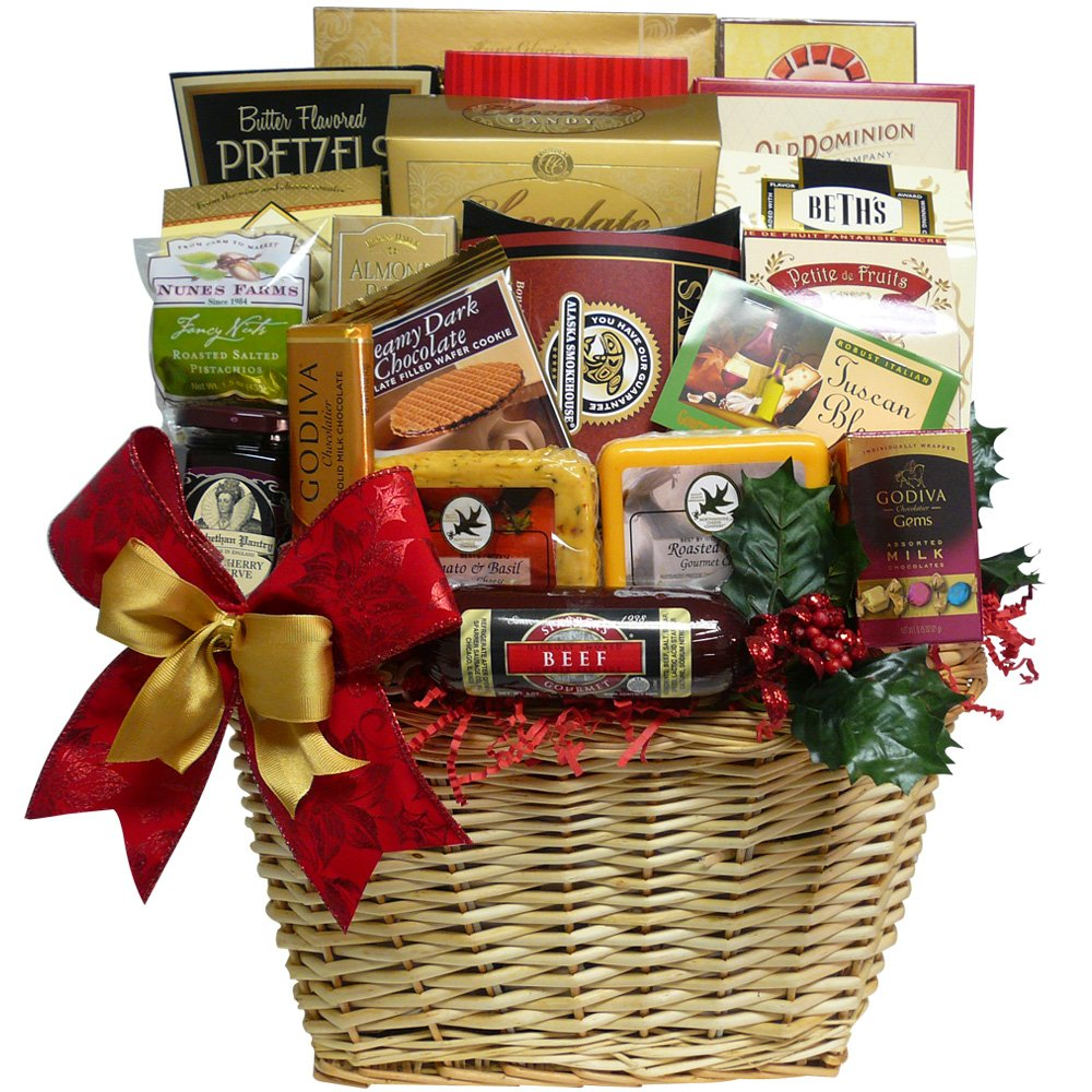 Best All Around Gourmet Food Gift Basket with Smoked Salmon ...
