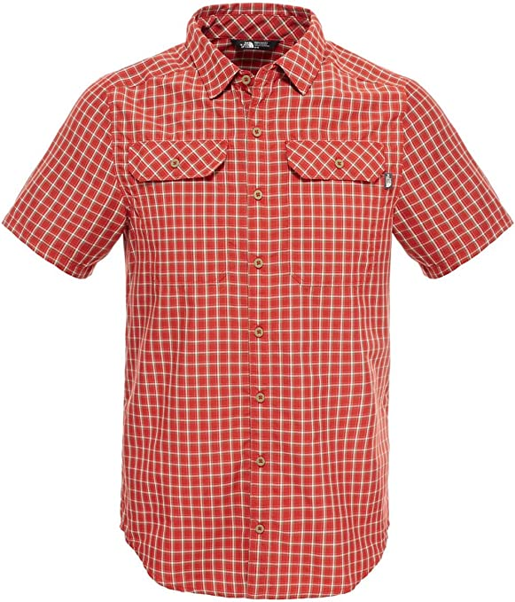 The North Face Pine Knot Short Sleeve Camisa, Hombre, Rojo ...