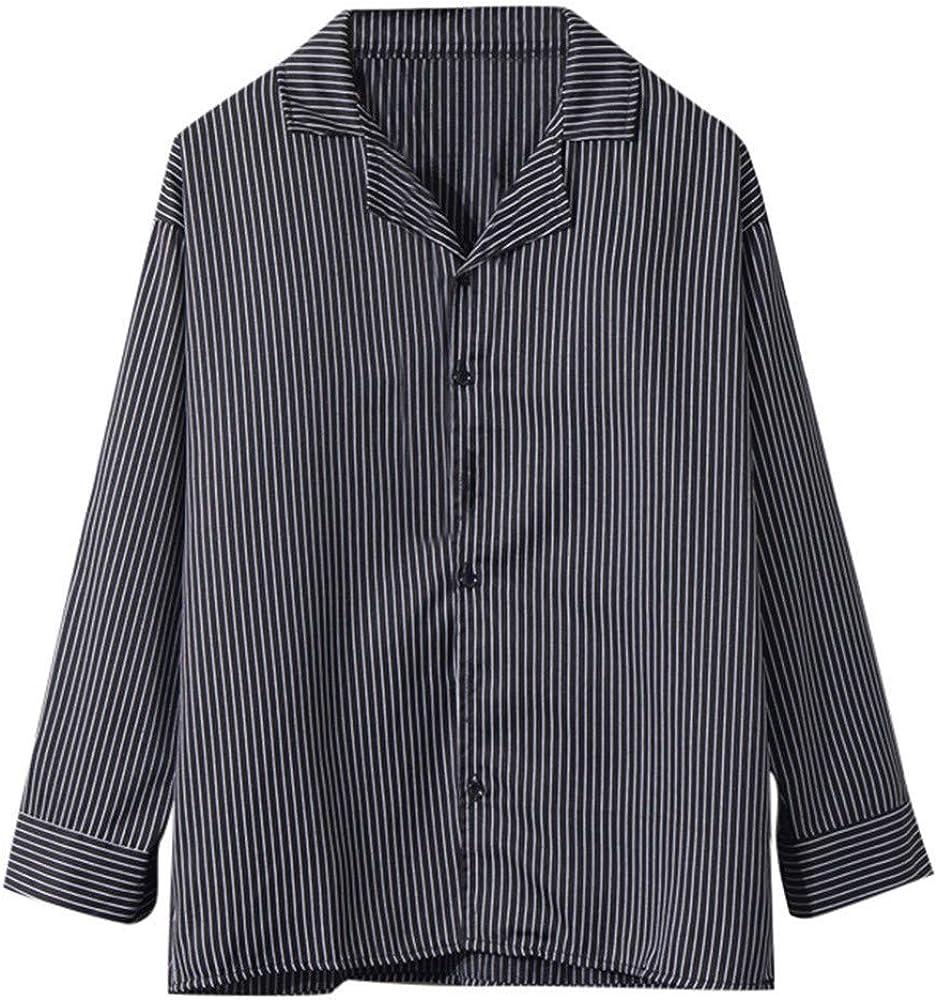 Fannyfuny_Camisa Hombre Camiseta Casual Moda Camisa Verano Blusa Polo para Hombre de Fiesta Diario Slim Fit Sudadera con Botones Cuello Vuelto Manga Larga Top: Amazon.es: Ropa y accesorios