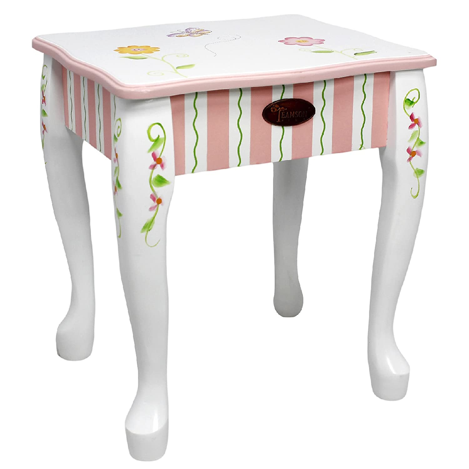 Fantasy Fields - Princess & Frog Thematic Kids Vanity Table and Stool Set  with Mirror Imagination Inspiring Hand Crafted & Hand Painted Details ...
