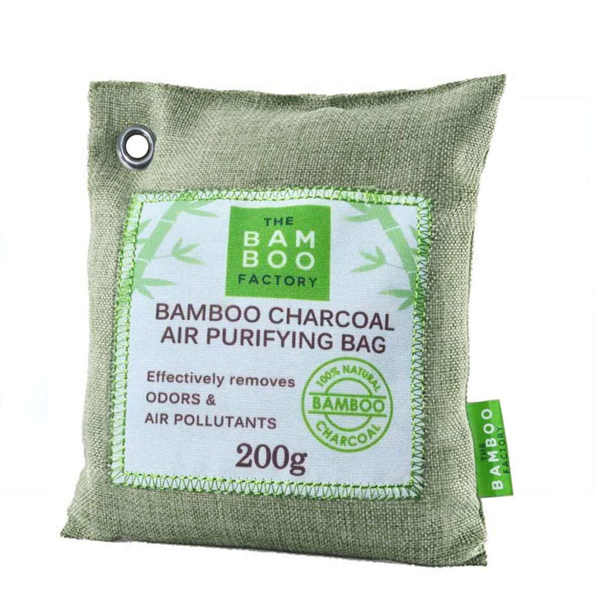 Activated Bamboo Charcoal Chemical Free Natural Air Purifier & Freshener, Pack of 2 The Bamboo Factory