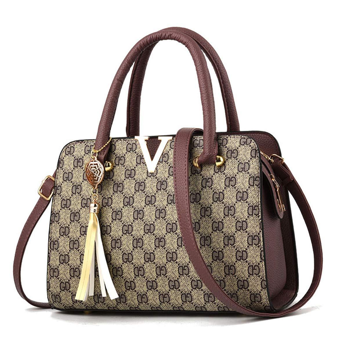 Lila, 20 * 27 * 12.5cm FXTKU 2019 Neu Mode Weibliche tasche Handtasche Umh/ängetasche PU-Handtasche Tasche drucken