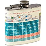 Hip Flask Stainless Steel - Choice Of Design ( Periodic Table )
