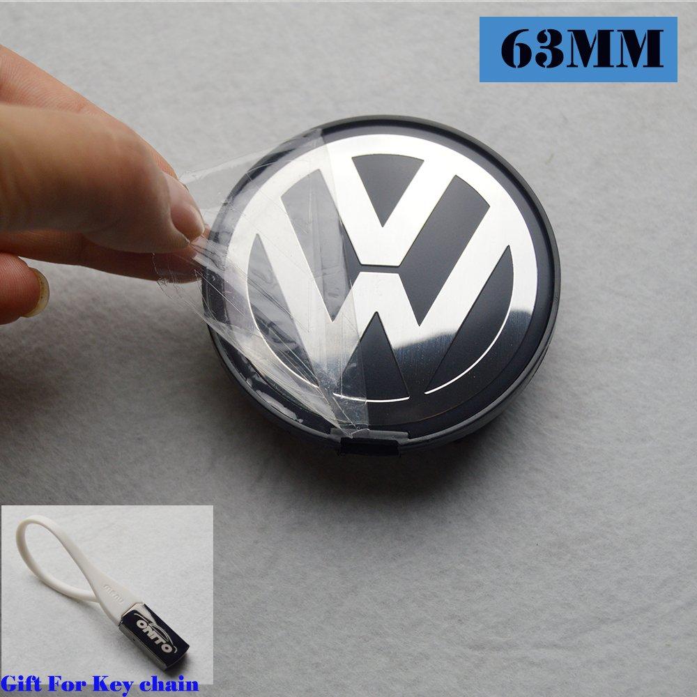 Hanway 4Pcs 63mm Volkswagens Wheel Center cap vw Wheel Hub Caps Volkswagens LOGO Badge Emblem Golf Jetta Mk5 Passat Scirocco B6 SANTANA P/N:7D0601165 by HANWAY (Image #1)