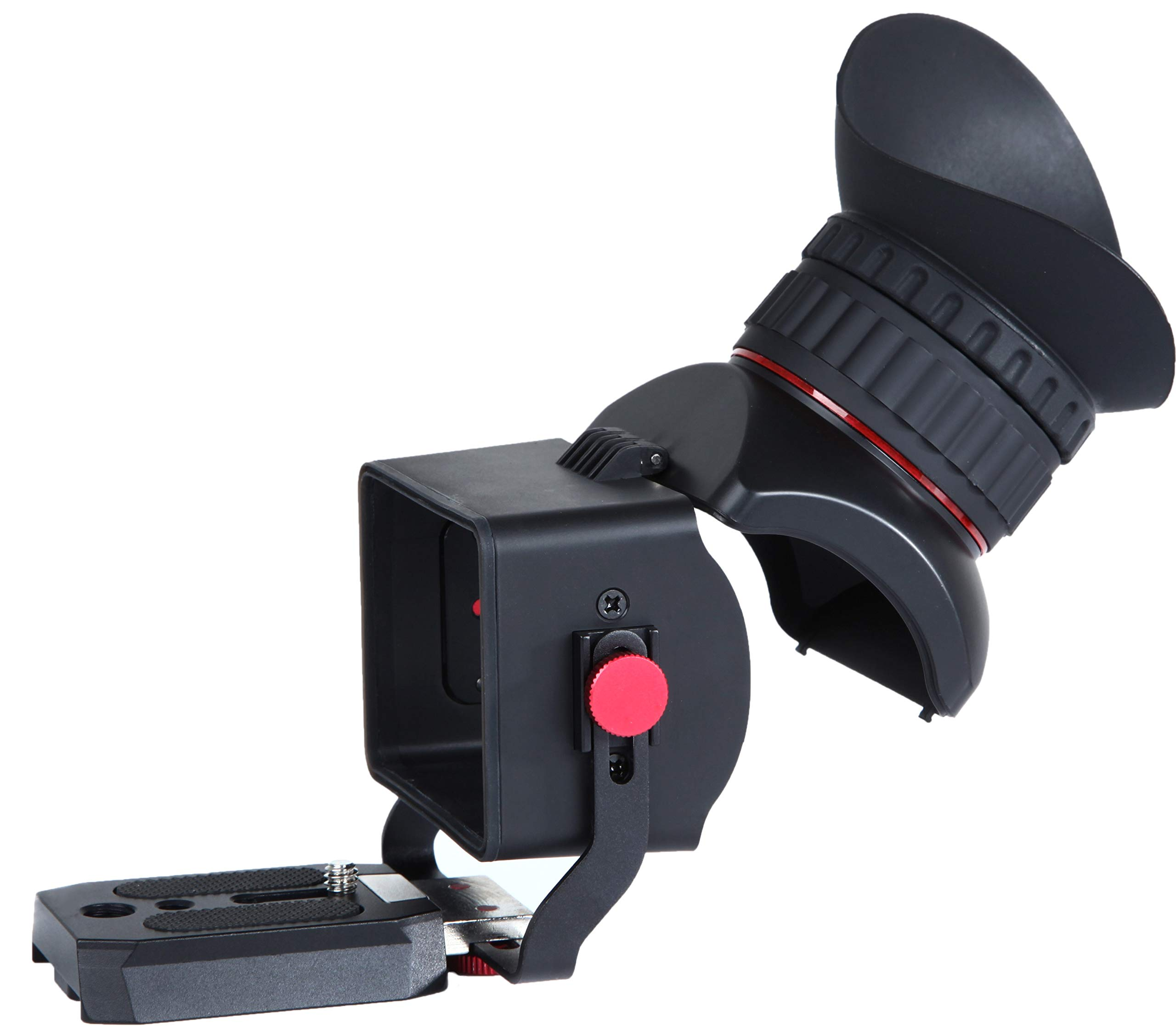 Movo VF40-PRO Universal 3X Magnifying LCD Video Viewfinder with Flip-Up Eyepiece and Adjustable Diopter - for 3-3.2'' Screens - Compatible with Canon EOS, Nikon, Sony Alpha, Olympus and Pentax DSLR