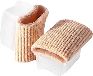 schmale Capuchon de protection pour hallux valgus gel pad Rembourrage de protection protection orteil avec textile fabacare corbby Protection Hallux Gel Premium confort optimal