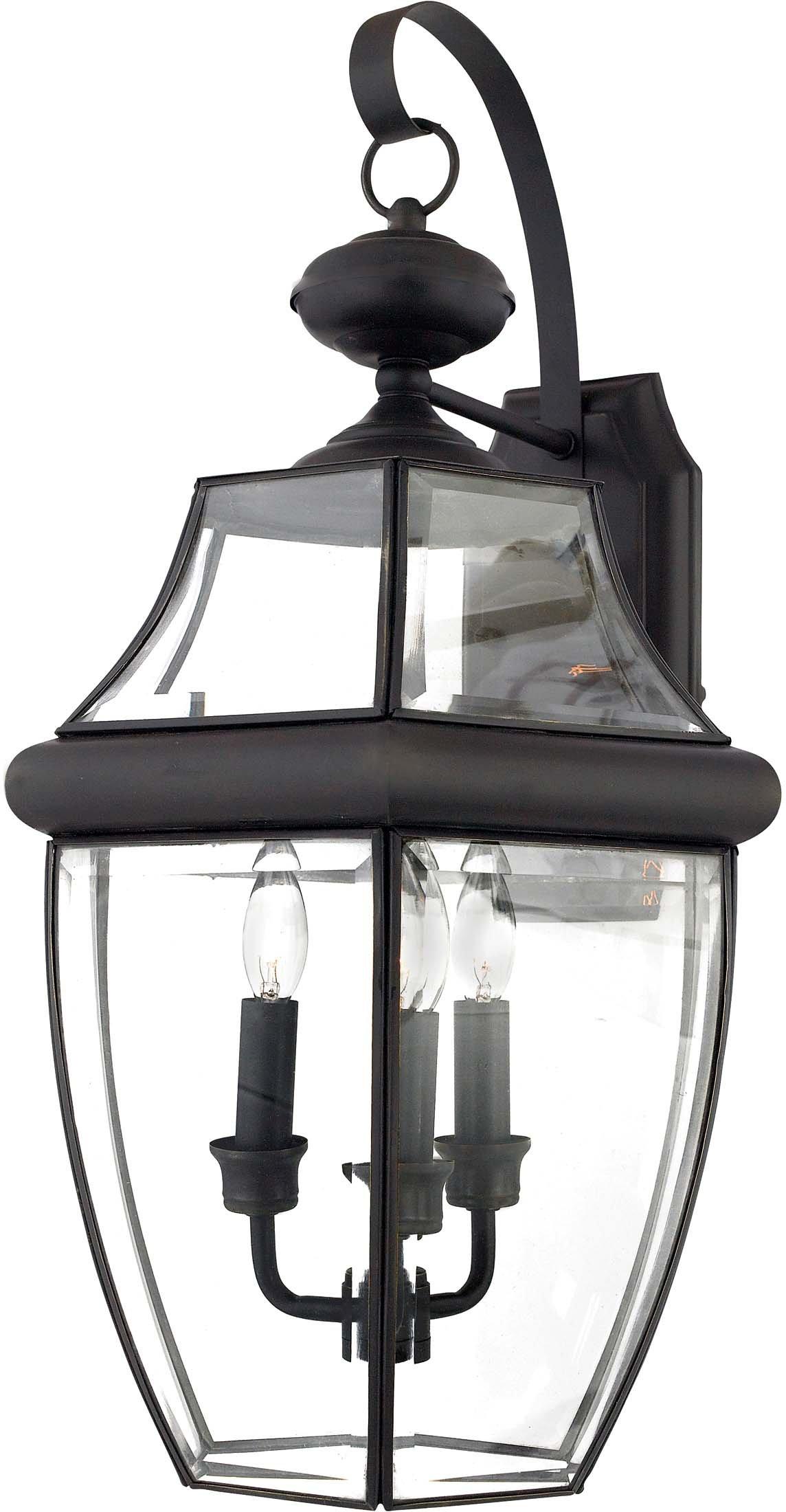 Quoizel NY8318Z  Newbury 3-Light Outdoor Lantern, Medici Bronze