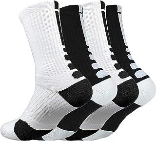 Men Socks, WEE Men's Cushioned Crew Sock Basketball Running Sports Sock for Men