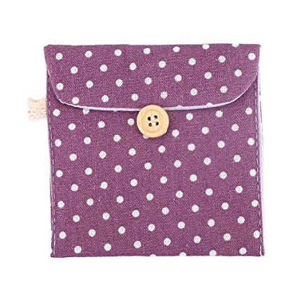 Hongch Paquete de 2 Ligera Señora de lino servilleta sanitaria Toalla Pad Pequeño mini bolsos de