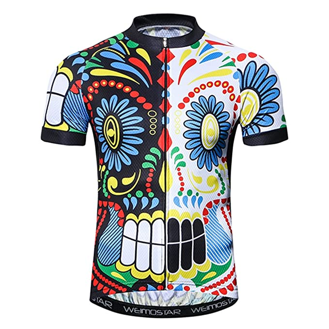 f0af8a01d Weimostar Men s Cycling Jersey Short Sleeve Biking Shirts Bike Clothing  Bicycle Jacket with Pockets Black White
