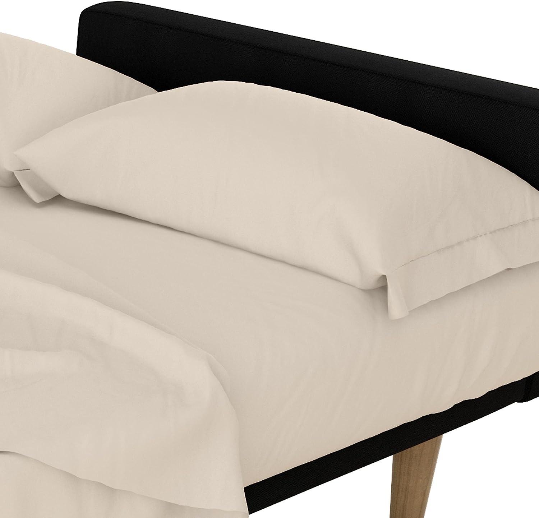 DHP Futon and Twin Sleeper Sofa Microfiber Sheet Set, Natural/Beige