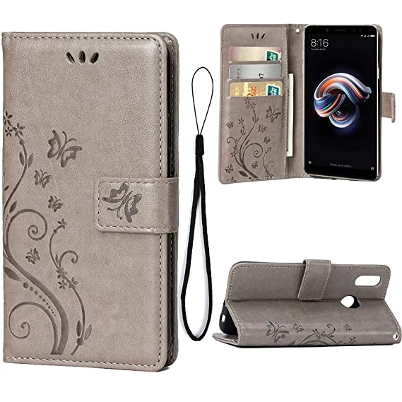 size 40 cbfce 7cd79 Amazon.com: Wallet Case for Xiaomi Redmi Note 5 Pro, 3 Card Holder ...