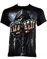 "Camiseta de manga corta ""Game Over"" de Spiral Direct (Negro)"