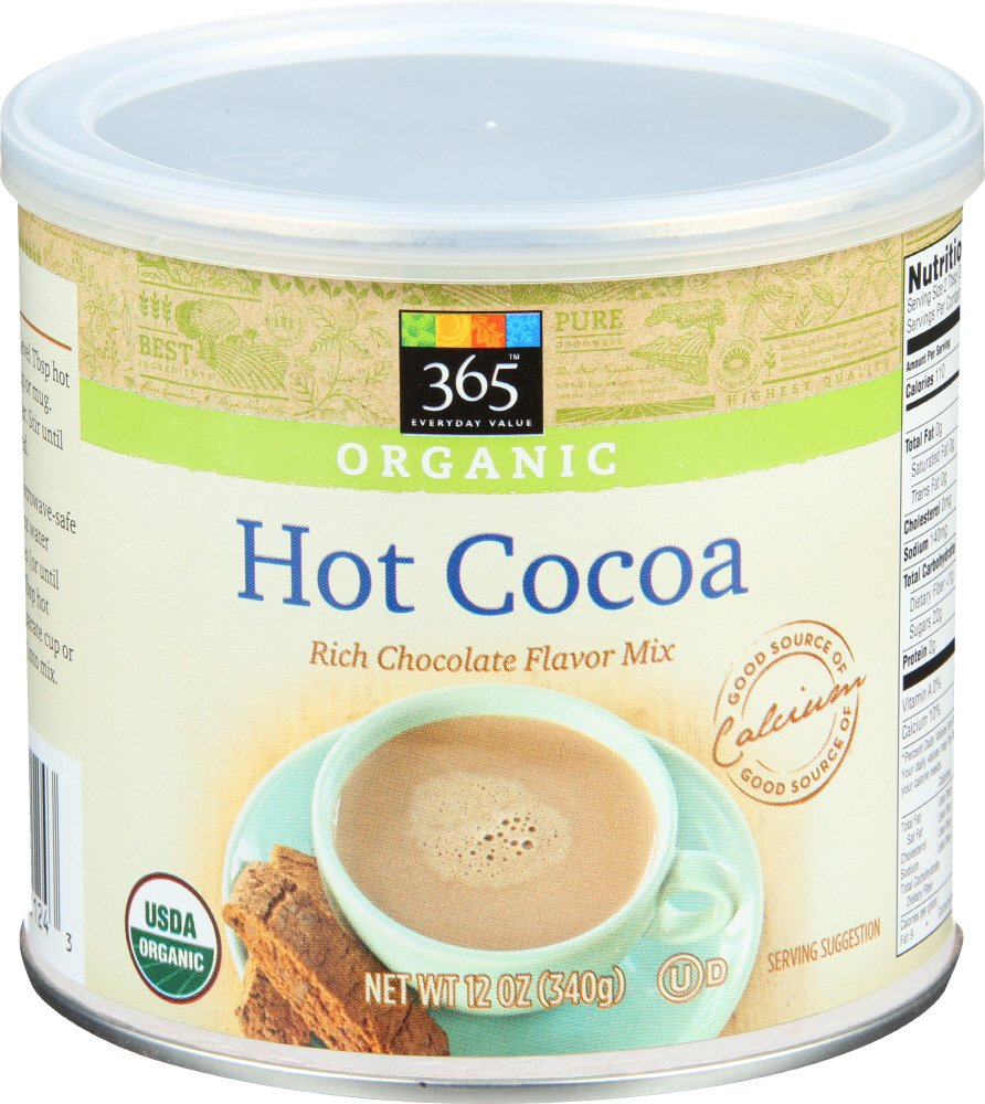 365 Everyday Value, Organic Cocoa, Rich Chocolate Flavor Mix, 12 oz