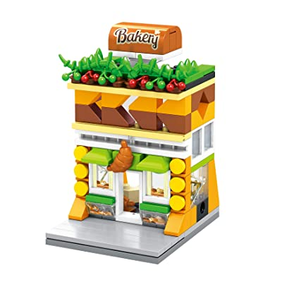 Exclusive Mini City - Bakery Shop - Custom Design Bricks - Compatible with All Major Brands: Toys & Games