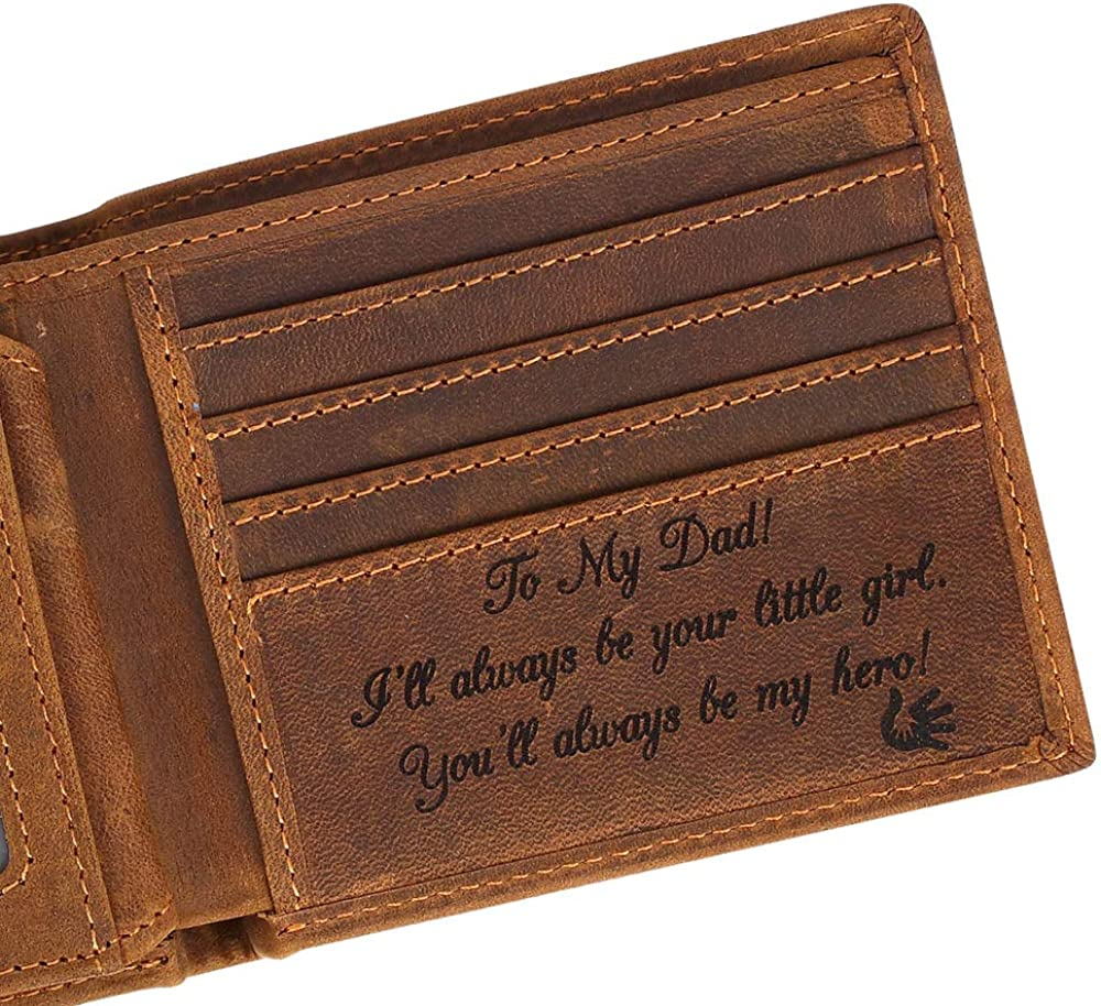 Engraved Personalized Wallet For Father, Gift