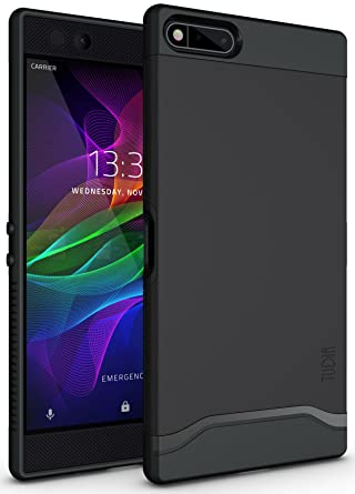reputable site 76a78 09545 TUDIA Razer Phone Case, Slim-Fit HEAVY DUTY [MERGE] EXTREME  Protection/Rugged but Slim Dual Layer Case for Razer Phone (2017 Version)  (Matte Black)